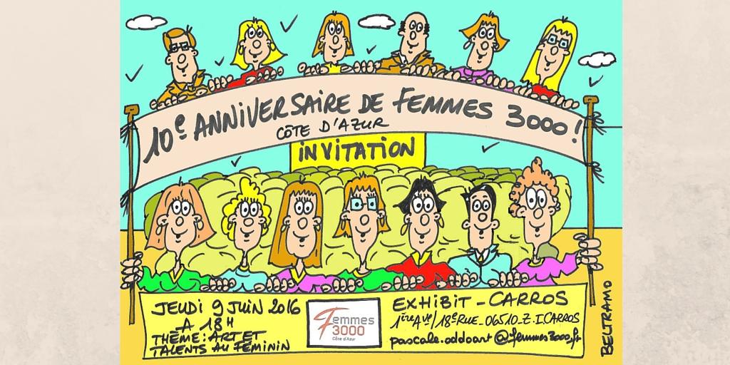 Femmes 3000 Côte d'Azur fête ses 10 ans !