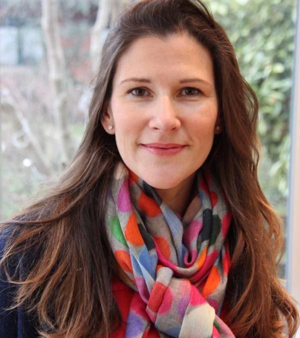 Charlotte Poussin au Café de Flore le 15 mai 2018