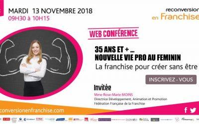 Web conférence – mardi 13 novembre de 9h30 à 10h15