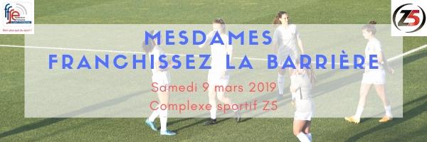 Football Féminin avec la FFSE et Femmes 3000 BDR le 9 mars