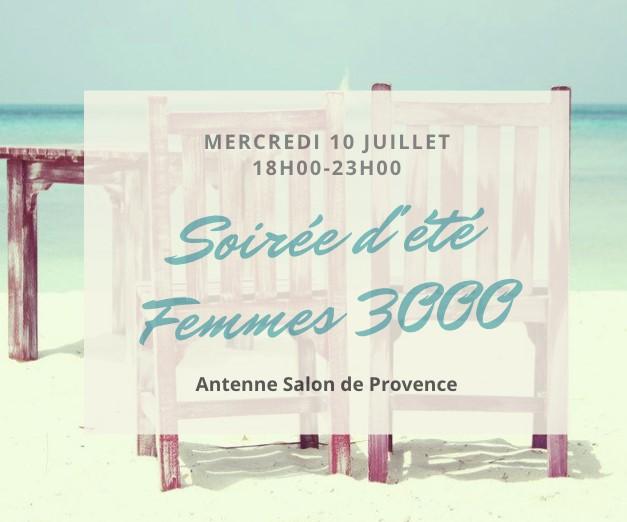 Soirée d' été le 10 juillet avec Femmes 3000 antenne Salon de Provence