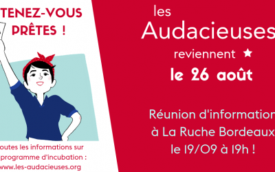 Tenez-vous prêtes avec notre partenaire La Ruche le 19/09 à Bordeaux