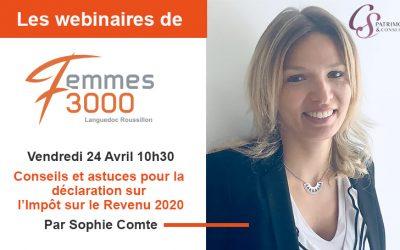 Conseils et astuces sur la déclaration IR 2020 Sophie Comte