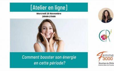 Comment booster son énergie en cette période le 25 novembre avec L'antenne Salon de Provence